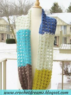 Use this Free Crochet pattern to make a lovely Infinity Scarf from one skein of Caron Cakes yarn. Click on the picture to grab the pattern.