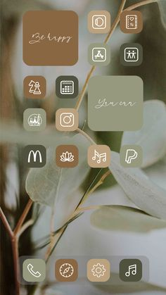 Rustic app icons sage green ios14 update apps - etsy