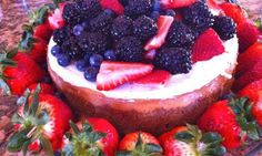 New York-Style Cheesecake with Berries.