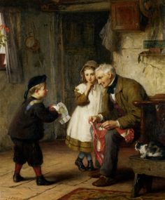 Surprise For Grandfather (1873)  ~ James Clarke Waite.
