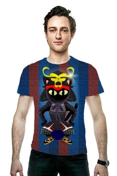 By BATKEI. All Over Printed Art Fashion T-Shirt by #OArtTee #猫 #cat #ネコ #tshirts #clothing #Tシャツ