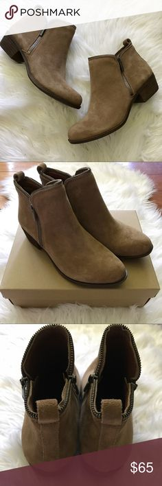 NEW Lucky Brand Bartalino Sesame Booties These are super cute with a zipper detail around the top! They measure about 10 inches from heel to toe. Lucky Brand Shoes Ankle Boots & Booties