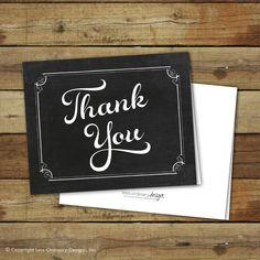 Printable thank you notes - Sara Luke Creative on Etsy