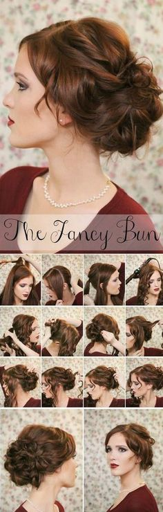 long hair styles for women updos