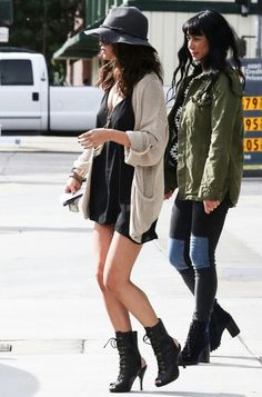 Selena Gomez' style, I like it.