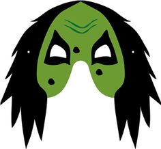 Scale mask and all mask parts in proportion to fit individual's face. Just add elastic or string. Silhouette Design, Silhouette Cameo, Masky, Silhouette Online Store, Halloween Silhouettes, Witch, Party Ideas, Shape, Carnival