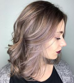 brown+hair+with+ash+blonde+and+pastel+purple+balayage
