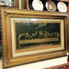 1864 The Last Supper Engraving Print #antique #thelastsupper #jesus #engraving #theuglyduckling