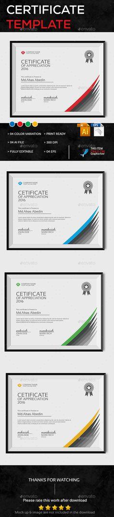 Certificate Template Vector EPS, AI Illustrator