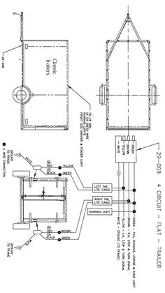 trailer wiring diagram 7 wire circuit truck to trailer trailers rh pinterest com 7 wire trailer wiring diagram with brakes rv 7 wire trailer cable wiring diagram