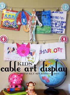 DIY Cable Art Display