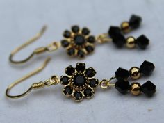 Black Crystal Earrings - If you love wearing the color black, and you love a little sparkle, these earrings were made for you!