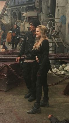 Bob Morley & Eliza Taylor as Clarke & Bellamy. #The100