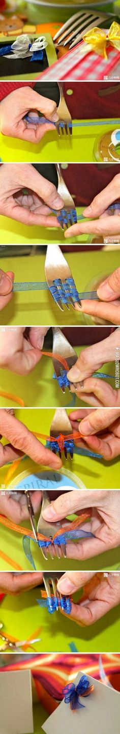 How to make tiny bows. Actually quite brilliant!