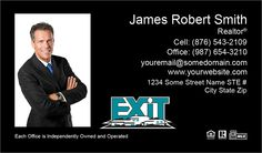 Black Professional Exit Realty Business Cards