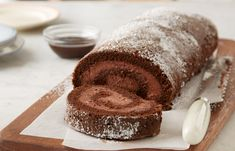 Get on a baking roll with this Chocolate Mousse Cake Roll. This light and airy recipe, made with HERSHEY'S Cocoa and HERSHEY'S Syrup, is a perfect chocolate cake for summer. Hershey's Chocolate Chips, Chocolate Mousse Cake, Chocolate Desserts, Chocolate Jelly Roll Cake Recipe, Chocolate Mouse, Chocolate Frosting, Delicious Chocolate, White Chocolate, Cake Roll Recipes