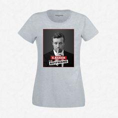 T-Shirt Femme Gris Simon Backer is my boyfriend