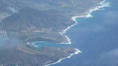 Diamondhead Hawai'i from plane