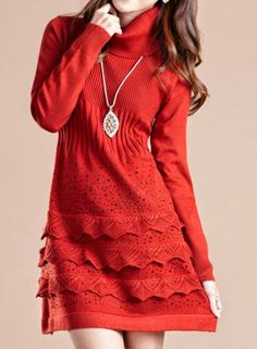 New Arrival Long Sleeve Sweater Dress