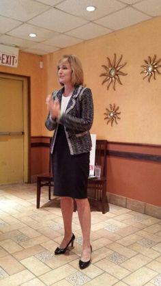 Harris County D.A. Devon Anderson speaks to Memorial West Republican Women.  May 2014