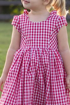 Harlow Dress and Top -violet field threads pattern