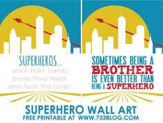 seven thirty three - - - a creative blog: Superhero Canvas Wall Art {Free Printables}