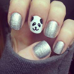 Panda nails (Could be a Pandicorn.... @Jia S.)