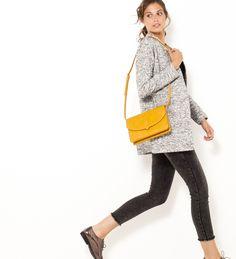 Gilet long gris chiné Camaïeu 2017 Gilet Long, Pulls, Sling Backpack, T Shirt, Backpacks, Womens Fashion, Bags, Inspiration, Shopping