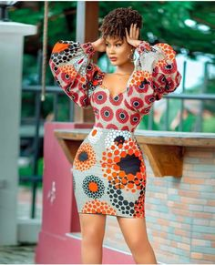 Slay in these head-turning, eye-popping ankara styles African Wear Dresses, African Inspired Fashion, Latest African Fashion Dresses, African Print Fashion, Africa Fashion, African Attire, Ankara Fashion, African Prints, Ankara Dress Styles