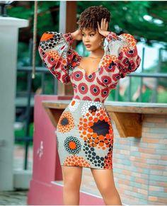 Slay in these head-turning, eye-popping ankara styles African Wear Dresses, Ankara Dress Styles, African Attire, African Clothes, African Inspired Fashion, African Print Fashion, Ankara Fashion, Africa Fashion, African Prints