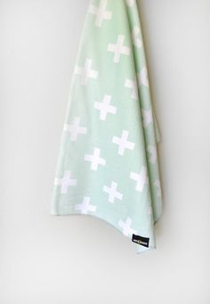 Baby Cross Swaddle Blanket by WrenandRumor on Etsy, $44.00