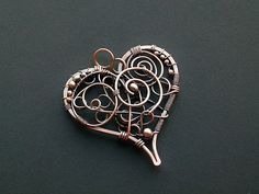 Heart pendant with spirals by SilverDeFactory on deviantART