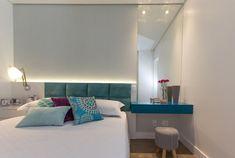 70 quartos de casal pequenos e decorados para te inspirar - Bed Design, Room Inspiration, Sweet Home, New Homes, Ikea, Flooring, Furniture, Head Boards, Master Room