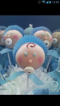 Cute Baby Shower cake pop!
