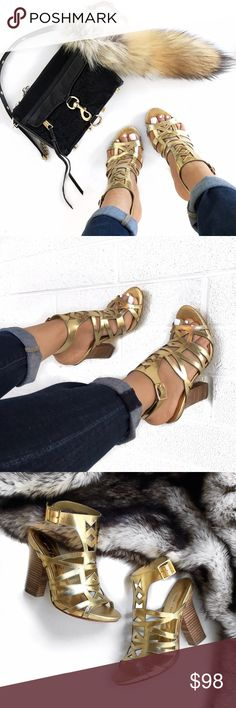 Vince Camuto gold gladiator heel Love these! Only worn once! No trades. Open to offers Shoes Heels