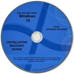 Windows 10 Pro & Home Install Reinstall Upgrade Restore Repair Recovery 64 bit All in One Disc DVD for Like the Windows 10 Pro & Home Install Reinstall Upgrade Restore Repair Recovery 64 bit All in One Disc DVD? Microsoft Windows, Windows Software, Microsoft Office, Computer Security, Computer Repair, Laptop Repair, Windows Xp, Small Business Software, Bad Room Ideas
