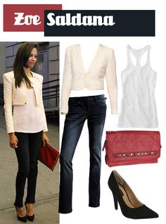 cropped cream blazer // really like the one zoe saldana is wearing though!!