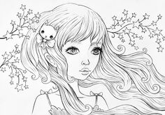 Jeremiah Ketner Fine Art by smallandround Coloring Book Pages, Coloring Sheets, Original Art, Original Paintings, Creation Art, Art Plastique, Digital Stamps, Printable Coloring, Hand Coloring