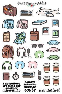 Travel Wanderlust Planner Stickers Mystery Grab Bag December