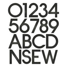Contempo House Number - Typography