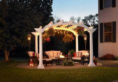 Garten pergola Beleuchtung Akzente Garten