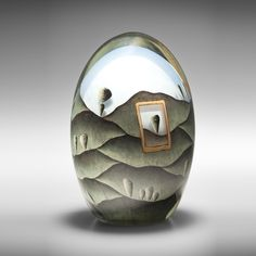 Maureen Williams, SOLD Within & Without 9, 2009, painted, blown & cold worked glass | sabbia gallery