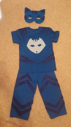 Catboy diy costume. Walmart shirt and pants w/ stick-on felt. Super easy.....