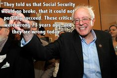 Bernie Sanders quote about Social SEcurity
