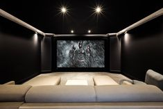 Screen Excellence :: Home Cinema Acoustic Transparent Screens Cinema Room Small, Small Movie Room, Home Cinema Room, Home Theater Lighting, Home Theater Room Design, Movie Theater Rooms, Home Theatre, Small Media Rooms, Small Rooms