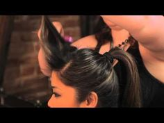 ▶ How to Do the Rockabilly Ponytail Hairstyle : Braids, Bangs & Other Hairstyles - YouTube