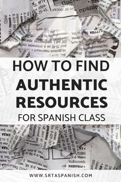 Do you struggle with finding authentic resources for your language classroom? Check out how to find authres for your Spanish students with these tips that will help you find the perfect authentic resource - whether you're listening to music, studying clothing vocabulary, and more - these ideas will make it easy to find authentic resources for your high school, middle school, and even your elementary Spanish classes! Perfect for your Spanish class working on reading and listening skills!