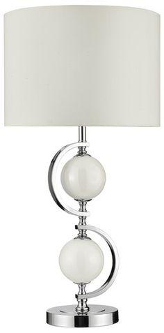 Stolní lampa SEARCHLIGHT SL 1965WH | Uni-Svitidla.cz Moderní pokojová #lampička vhodná jako doplňkové osvětlení domácnosti či kanceláře #modern, #lamp, #table, #light, #lampa, #lampy, #lampičky, #stolní, #stolnílampy, #room, #bathroom, #livingroom