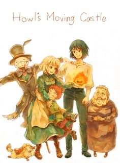 """howl's moving castle  """"We're going to be a family"""""""