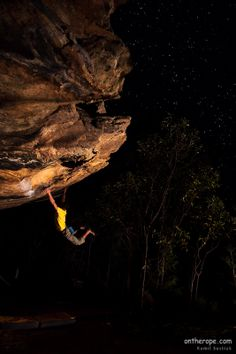 Toby Hulf getting closer to the stars while bouldering in the Grampians national park